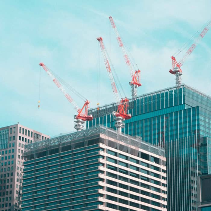 cranes on buildings
